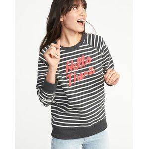 """Old Navy """"Hello There"""" embroidered sweatshirt"""